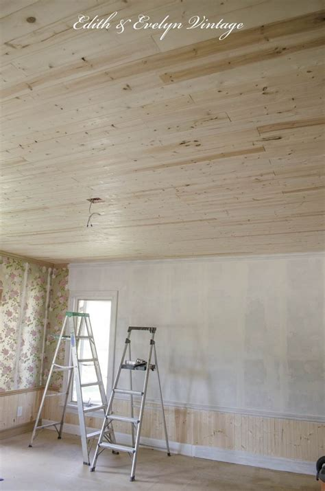 how to plank ceiling over popcorn on a budget less than
