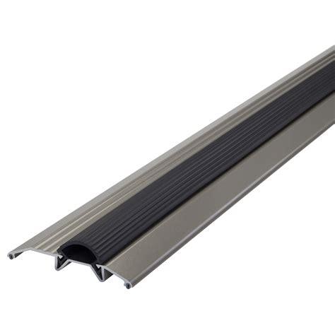 Shop M D 0 75 In X 36 In Satin Nickel Aluminum Door How To Replace A Metal Threshold On An Exterior Door