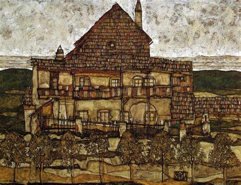 house portrait artist house with shingles 1915 egon schiele wikiart org