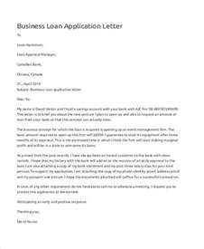 Sle Letter For A Small Business Loan 46 Application Letter Exles Sles