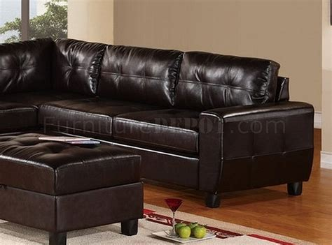 two piece sectional sofa in bonded leather espresso sofa u5190 sectional sofa in espresso bonded leather