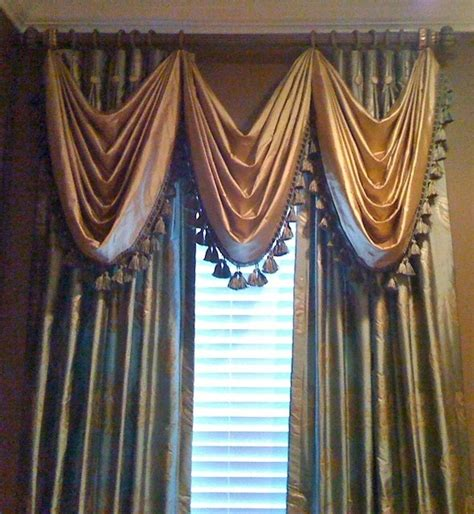 traditional curtains and valances silk richness traditional window treatments drapes