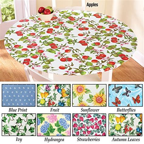 fitted tablecloths for oval tables fitted elastic table cover fruit 68 quot oval new ebay