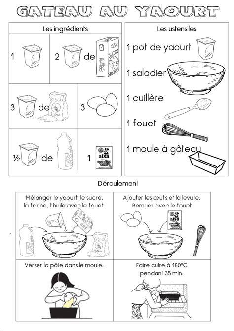 recette de cuisine gateau au yaourt fiche recette du g 226 teau au yaourt maternelle dans ma