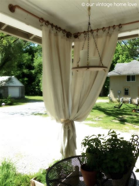 curtain weights outdoor 1000 ideas about outdoor curtain rods on pinterest