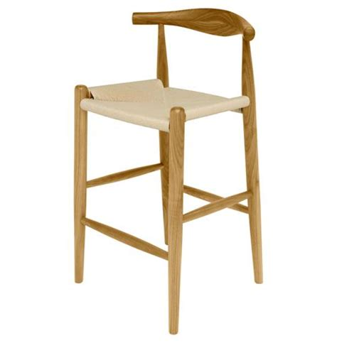Quinn 24 Counter Height Stool by Quinn American White Oak Modern Rattan Seat Counter Stool