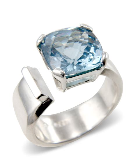 18ct white gold topaz ring krausz jewellery