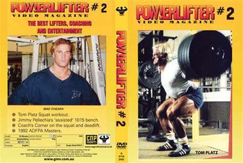 tom platz bench press powerlifter video magazine 2 dvd gmv bodybuilding