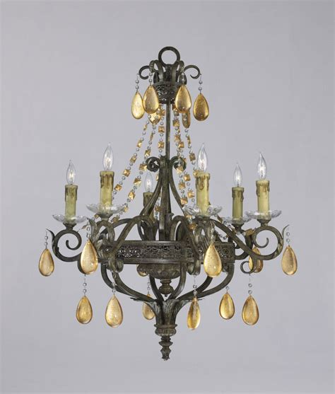Decorative Chandelier Dorato 6 Light Wrought Iron Chandelier By Cyan Design