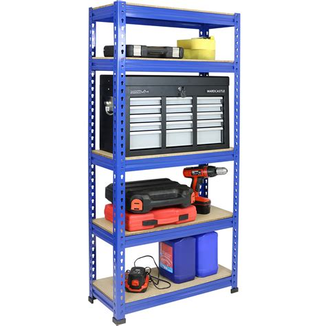 Heavy Duty Rack Shelf by 1 5m 5 Tier Heavy Duty Metal Shelving Garage Shed Storage