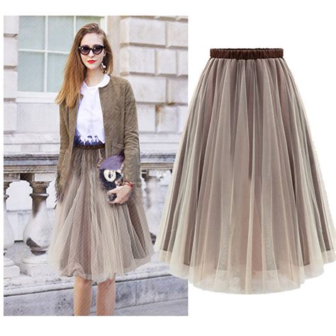 new arrival 2015 skirts womens midi tulle