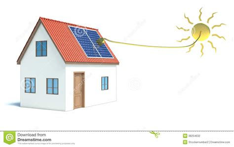 energy house solar energy house stock photography image 38254632