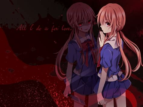 wallpaper anime yuno gasai yuno mirai nikki wallpaper 1479897 zerochan