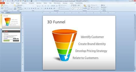 Sales Funnel Template Powerpoint Free Download Free 3d Funnel Analysis Powerpoint Template Free Marketing Funnel Template