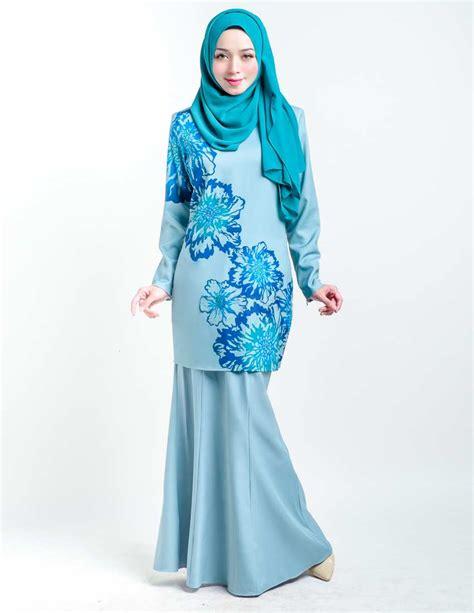 Baju Kurung Moden Warna Biru Turquoise baju kurung moden donalis mint blue lovelysuri