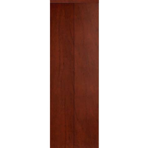 42 Bi Fold Closet Door Impact Plus 42 In X 80 In Smooth Flush Cherry Solid Mdf Interior Closet Bi Fold Door With