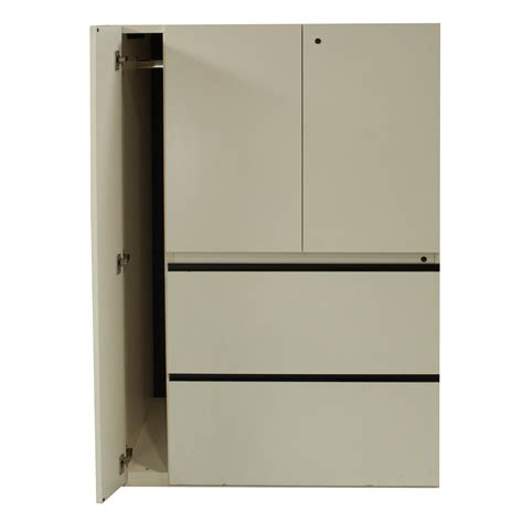 Used Laminate Utility Cabinet, Off White   National Office