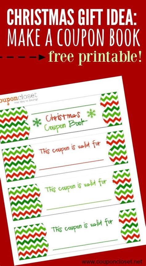 free templates for coupon books free christmas coupon book printable homemade gift idea