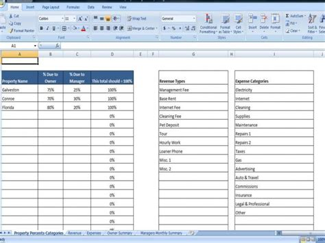 free rental property spreadsheet template property managers template rent income and expense