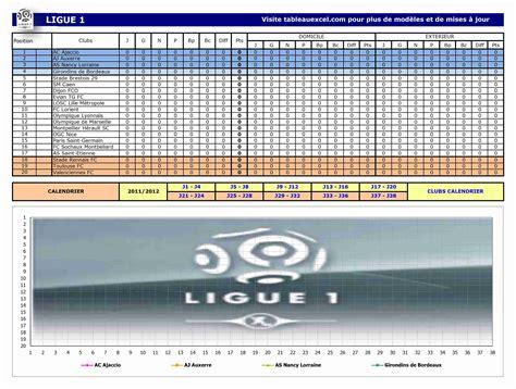 Calendrier Ligue 1 Lyon Marseille Tableau Excel Part 6
