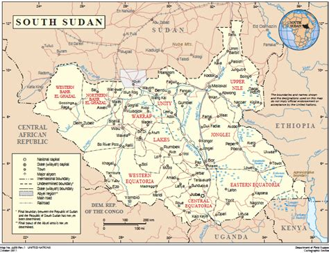 un cartographic section food assistance fact sheet south sudan u s agency for