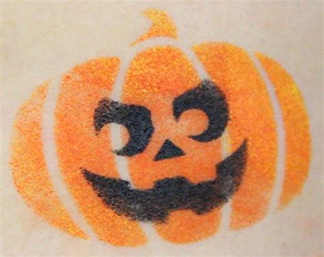 face paint stencil kit halloween pumpkin painting for kids no artistic skills needed pocket