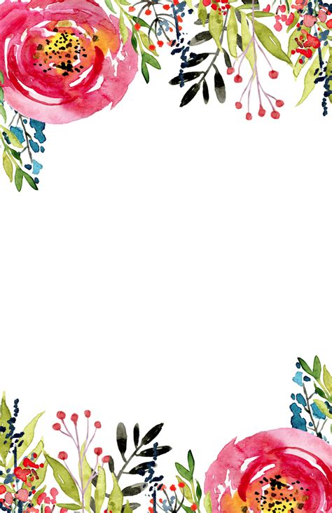 floral invitation template free printable paper trail