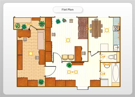flat plan conceptdraw sles floor plan and landscape design
