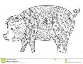 pig stock vector image 65412444
