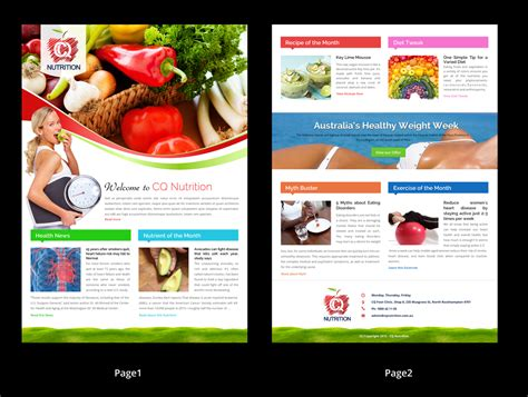 designcrowd newsletter design colorful bold newsletter design for stacey hughes by