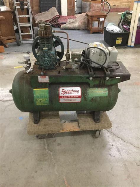 vintage speedaire industrial duty air compressor by dayton e