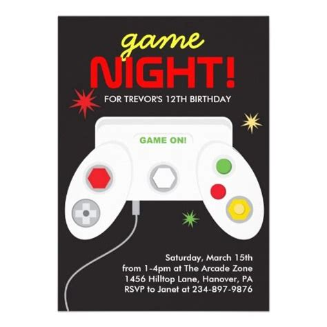 Video Game Party Invites A Collection Of Design Ideas To Try Birthday Party Invitations Arcade Invitation Template