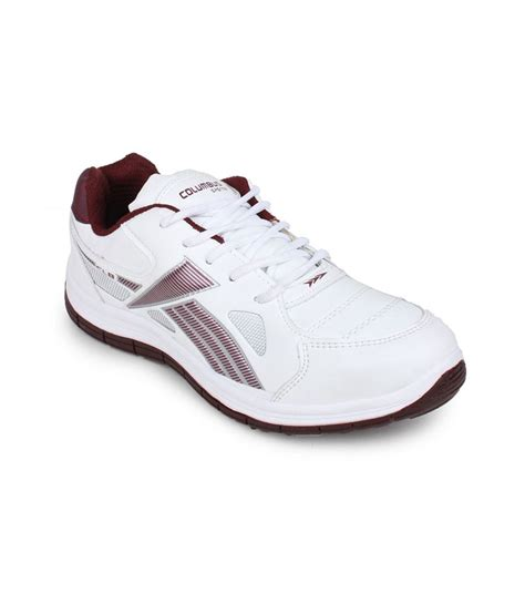 buy columbus white rust running wear sport shoes for
