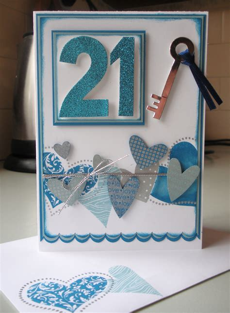Handmade 21st Birthday Card - janelle s 21st card enchantink