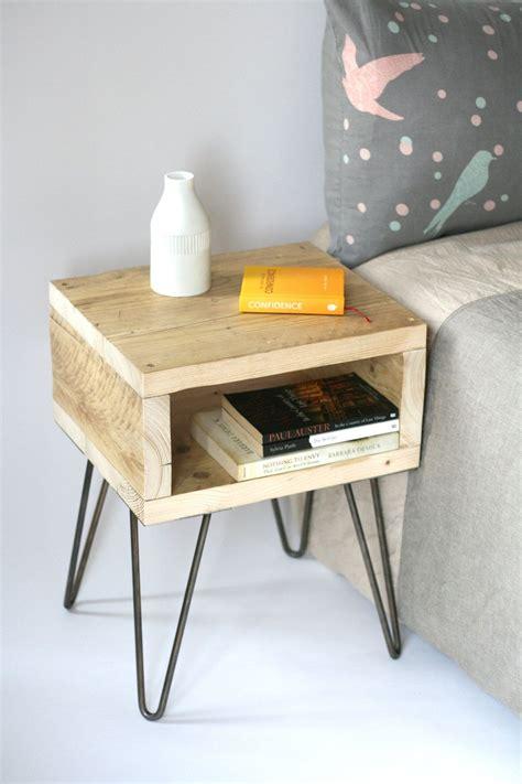 Handmade Nightstand - blondie bedside table reclaimed wood side table