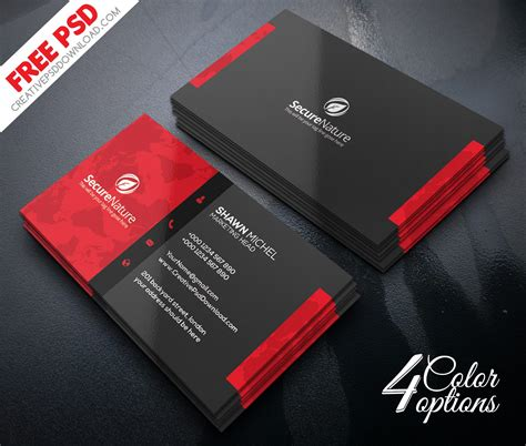 corporate business card templates psd premium corporate business card psd freebie