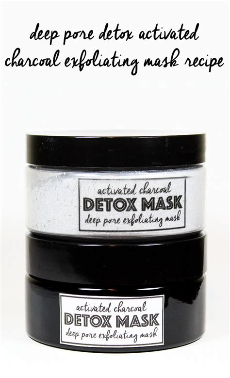 Activated Charcoal Carbon Detox by Activated Charcoal Detox Mask Recipe With Free Printable