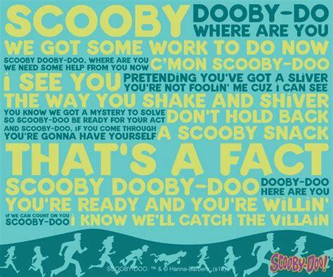 cartoon themes lyrics 17 best images about scooby doo on pinterest cartoon