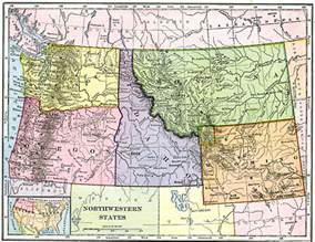 northwest united states map northwestern states