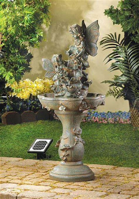 garden fountains add relaxing spot   backyard