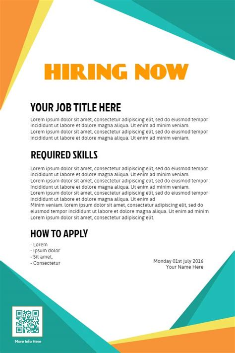 hiring template 18 best hiring flyer designs images on flyer