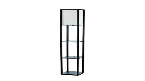 white floor l with shelves corner shelf l white floor l with floral shade and