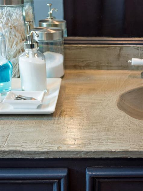 Just A Countertop by How To Refresh A Dated Vanity Countertop With Concrete Hgtv
