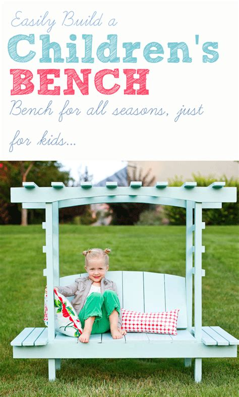 how to make a kids bench build a children s arbor bench ana white the crafting chicks