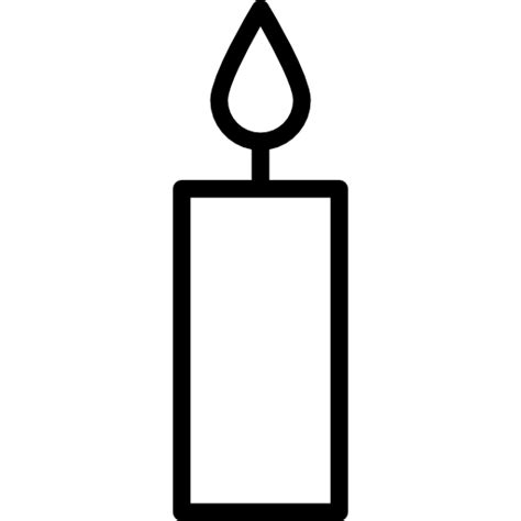 Candle Outline by Candle Free Tools And Utensils Icons