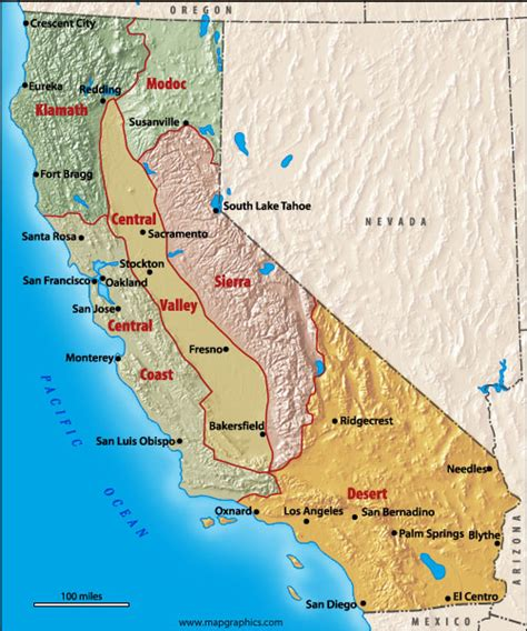 california map landforms california s bioregions