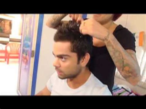 tattoo new song sapna styling virat kohli s hair before the world cup youtube