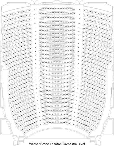 warner theater seating chart warner grand theatre seating chart grandvision org