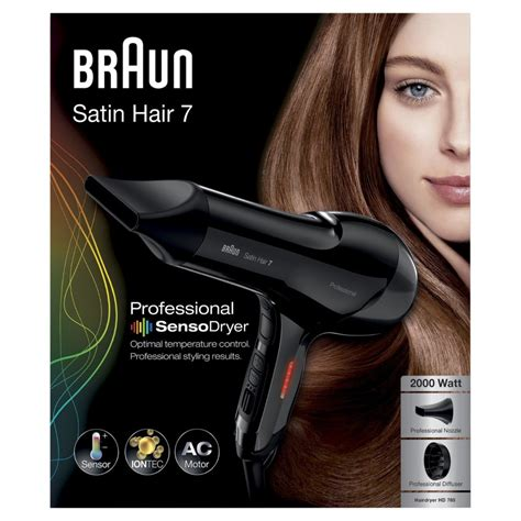 braun satin hair braun satin hair 7 hd 785 sensodryer hair dryer diffuser