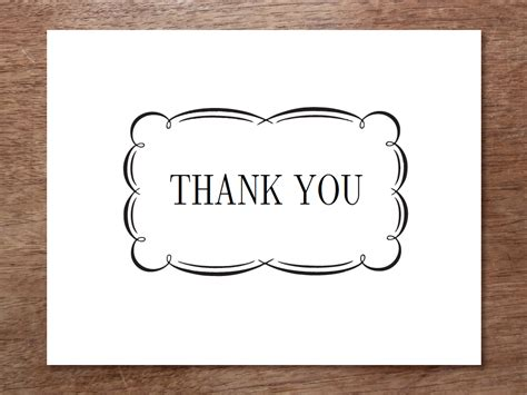 thank you greeting card template printable thank you cards black and white free clipart